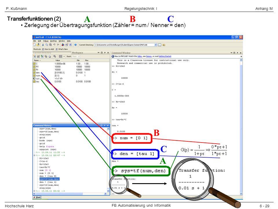 A B C B C A Transferfunktionen (2)