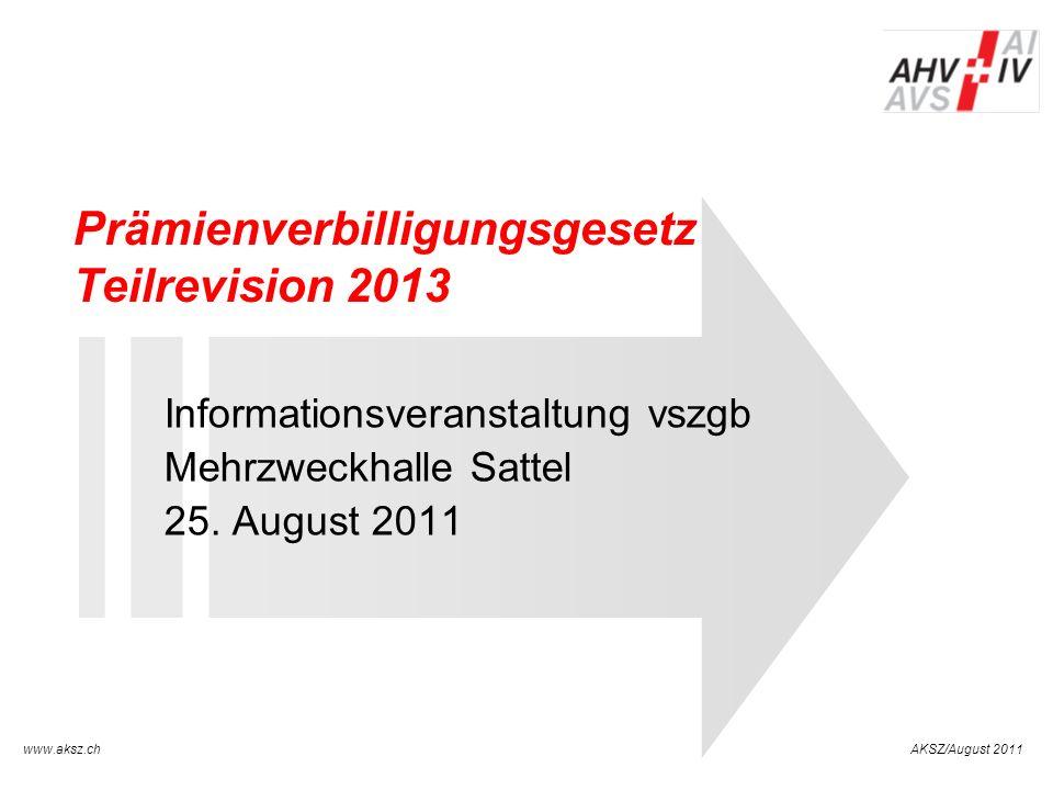 Prämienverbilligungsgesetz Teilrevision 2013