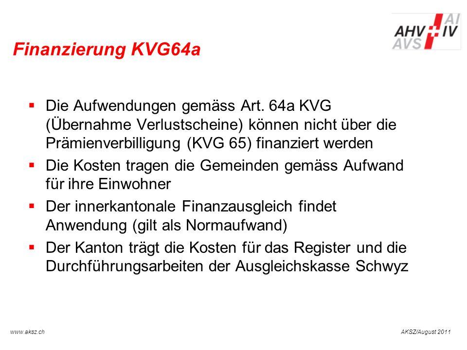 Finanzierung KVG64a