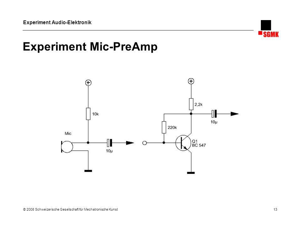 Experiment Mic-PreAmp