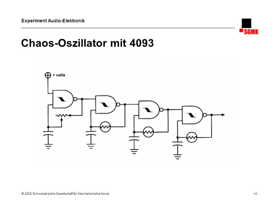 Chaos-Oszillator mit 4093 © 2008 Schweizerische Gesellschaft für Mechatronische Kunst 14.