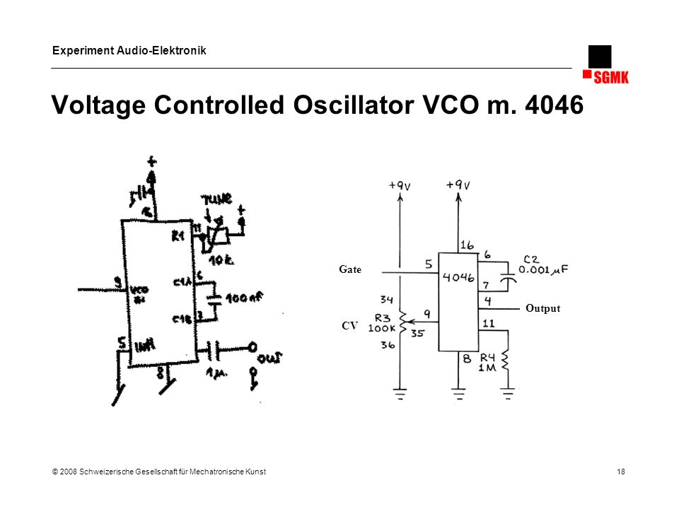 Voltage Controlled Oscillator VCO m. 4046