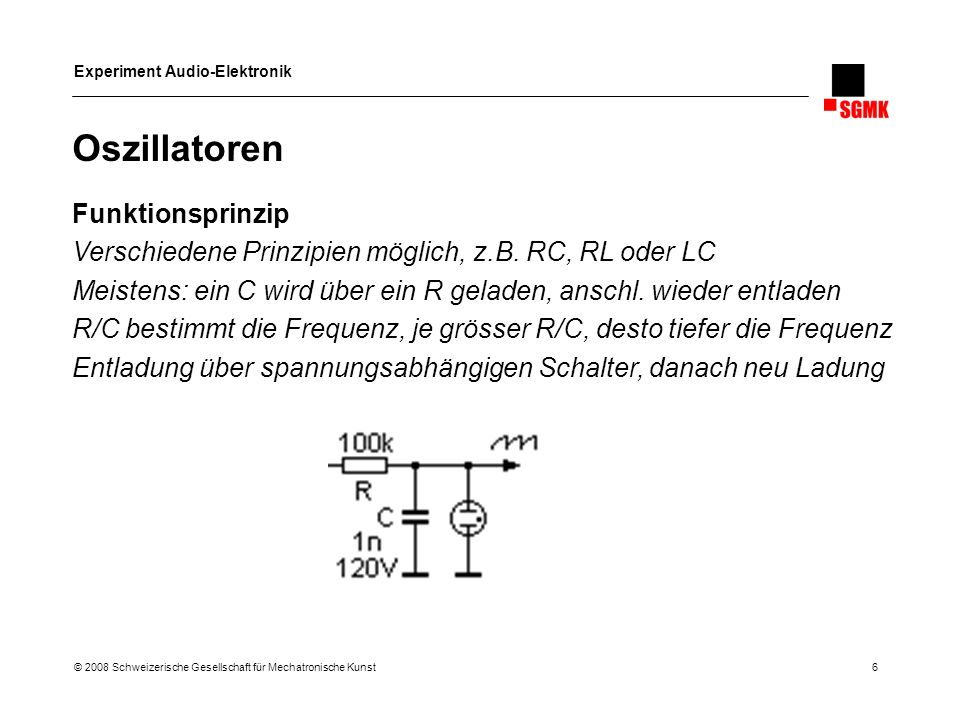 Oszillatoren Funktionsprinzip