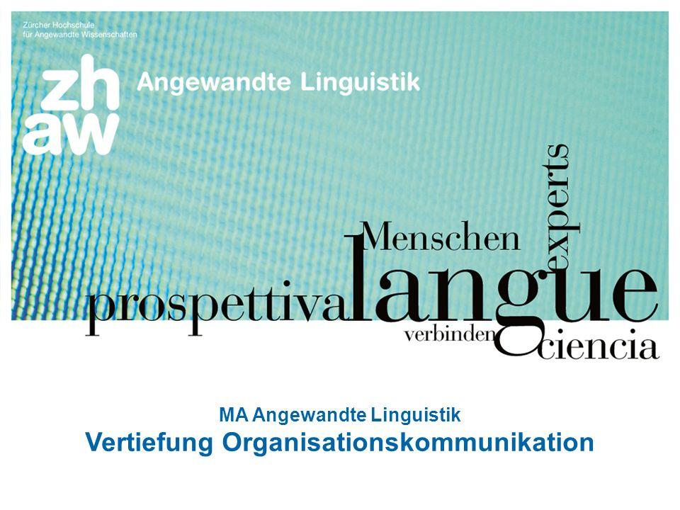 MA Angewandte Linguistik Vertiefung Organisationskommunikation