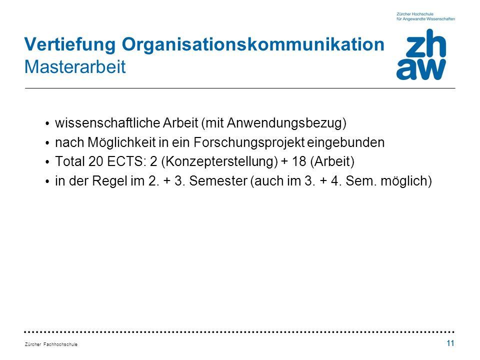 Vertiefung Organisationskommunikation Masterarbeit
