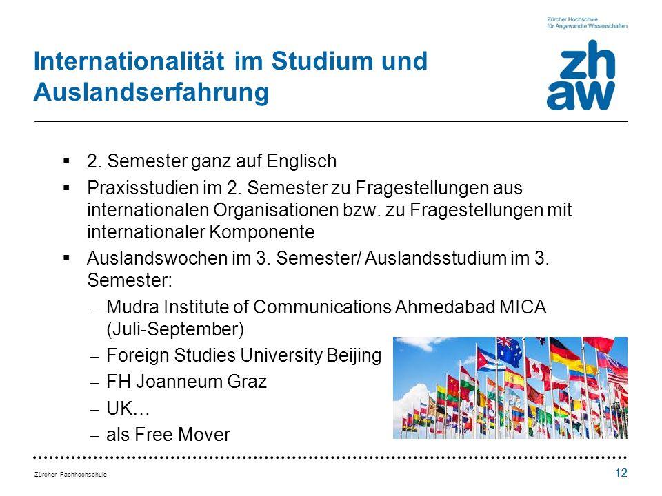 Internationalität im Studium und Auslandserfahrung