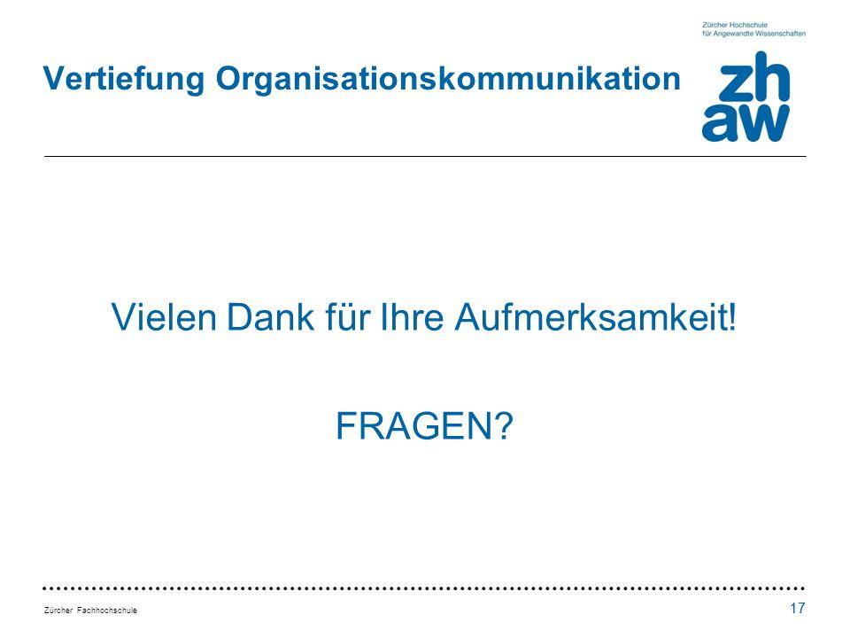 Vertiefung Organisationskommunikation
