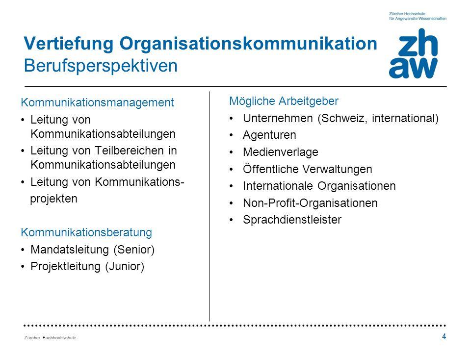 Vertiefung Organisationskommunikation Berufsperspektiven