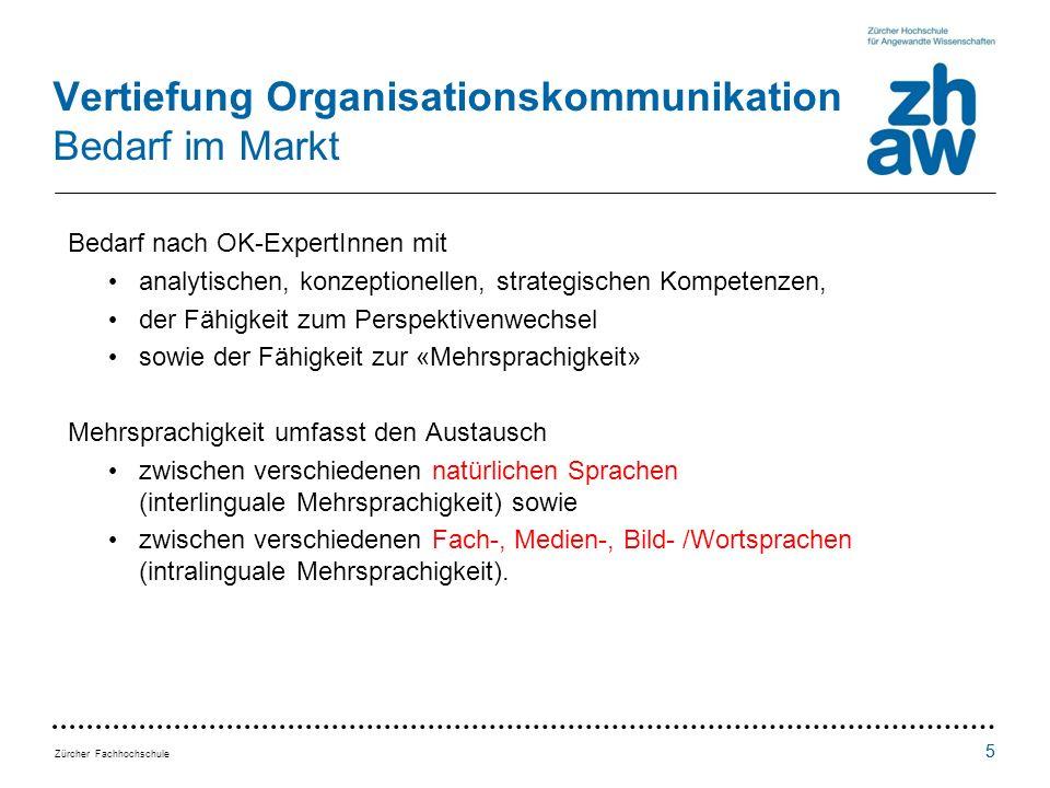 Vertiefung Organisationskommunikation Bedarf im Markt