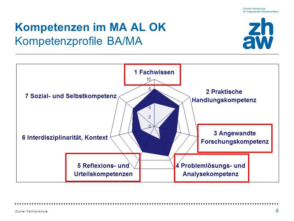 Kompetenzen im MA AL OK Kompetenzprofile BA/MA