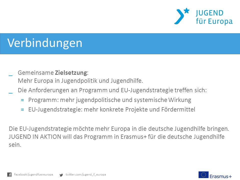 Verbindungen Gemeinsame Zielsetzung: Mehr Europa in Jugendpolitik und Jugendhilfe.