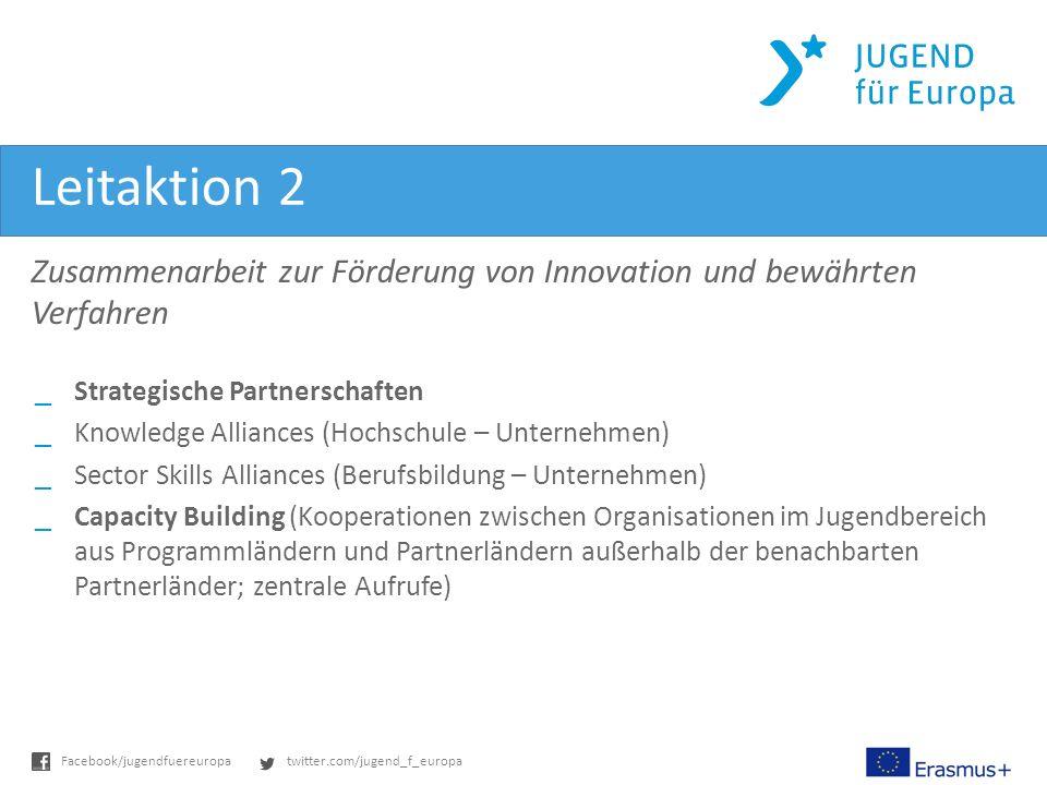 Leitaktion 2 Zusammenarbeit zur Förderung von Innovation und bewährten Verfahren. Strategische Partnerschaften.