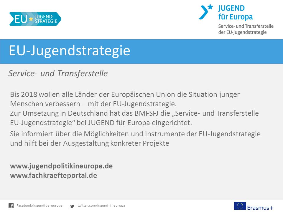 EU-Jugendstrategie Service- und Transferstelle