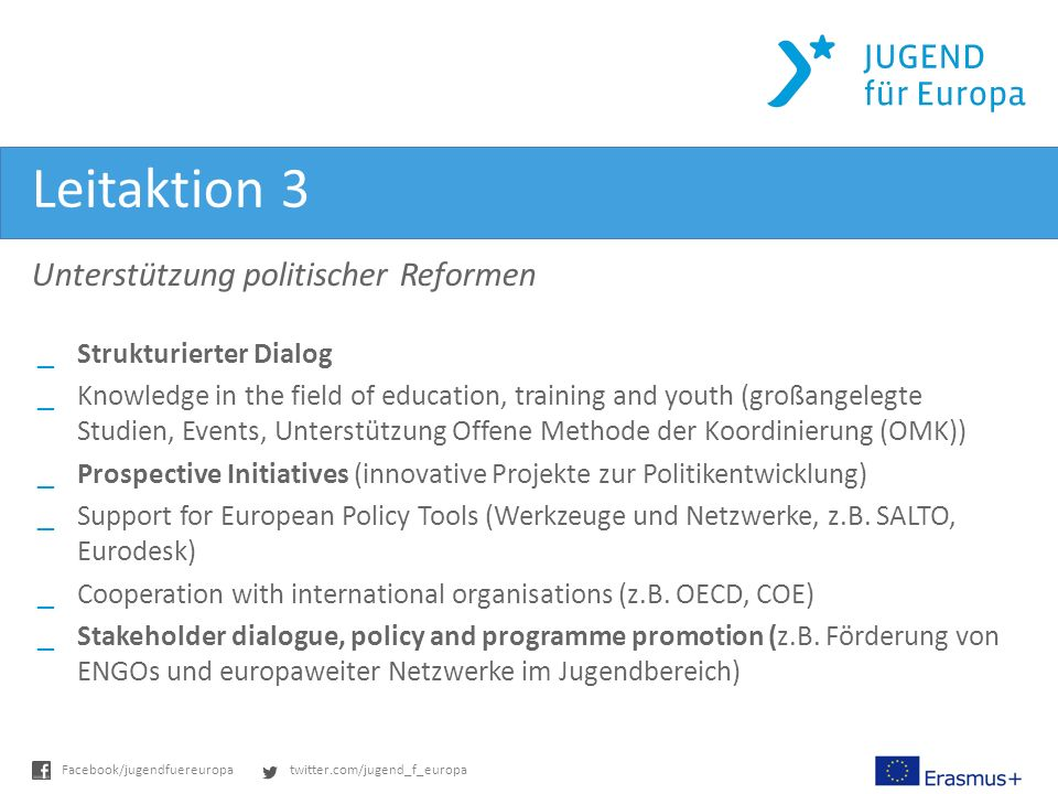 Leitaktion 3 Unterstützung politischer Reformen Strukturierter Dialog