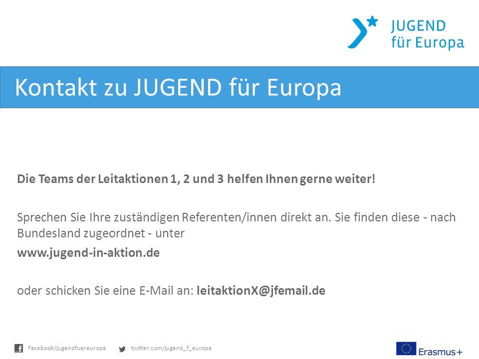 Kontakt zu JUGEND für Europa
