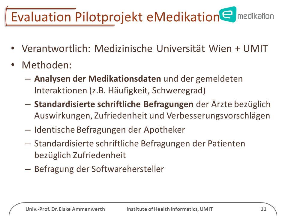 Evaluation Pilotprojekt eMedikation