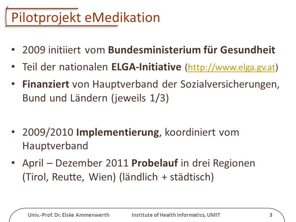Pilotprojekt eMedikation