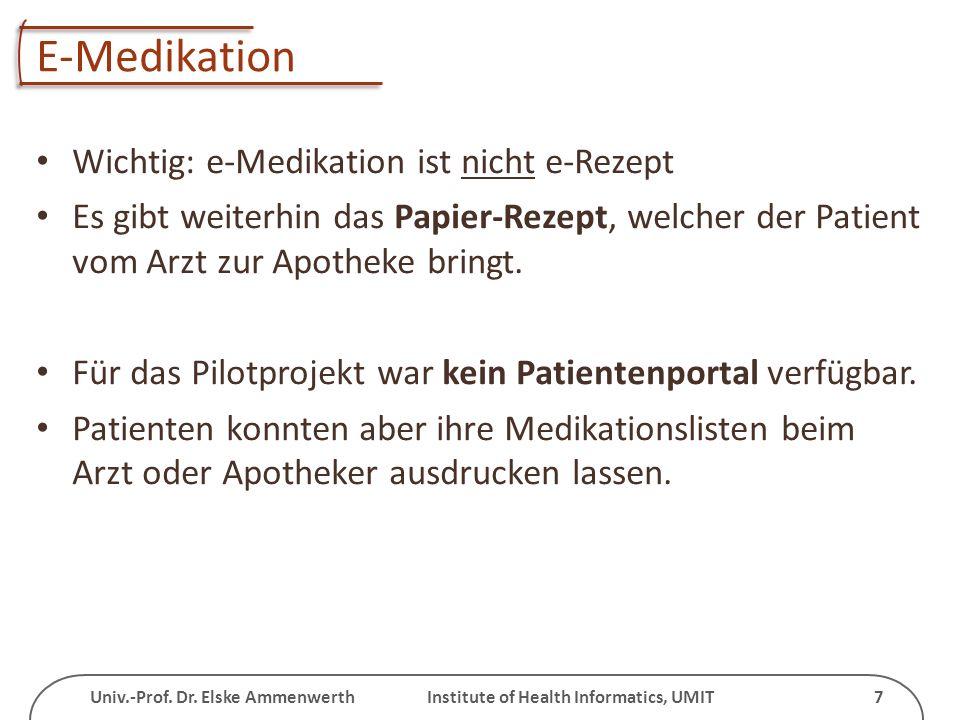 E-Medikation Wichtig: e-Medikation ist nicht e-Rezept