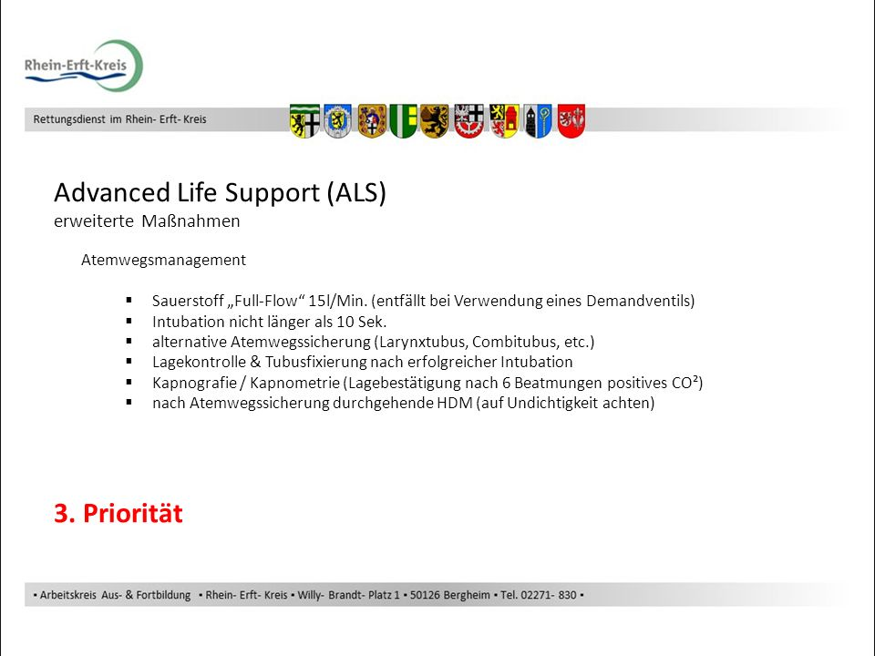 Advanced Life Support (ALS)