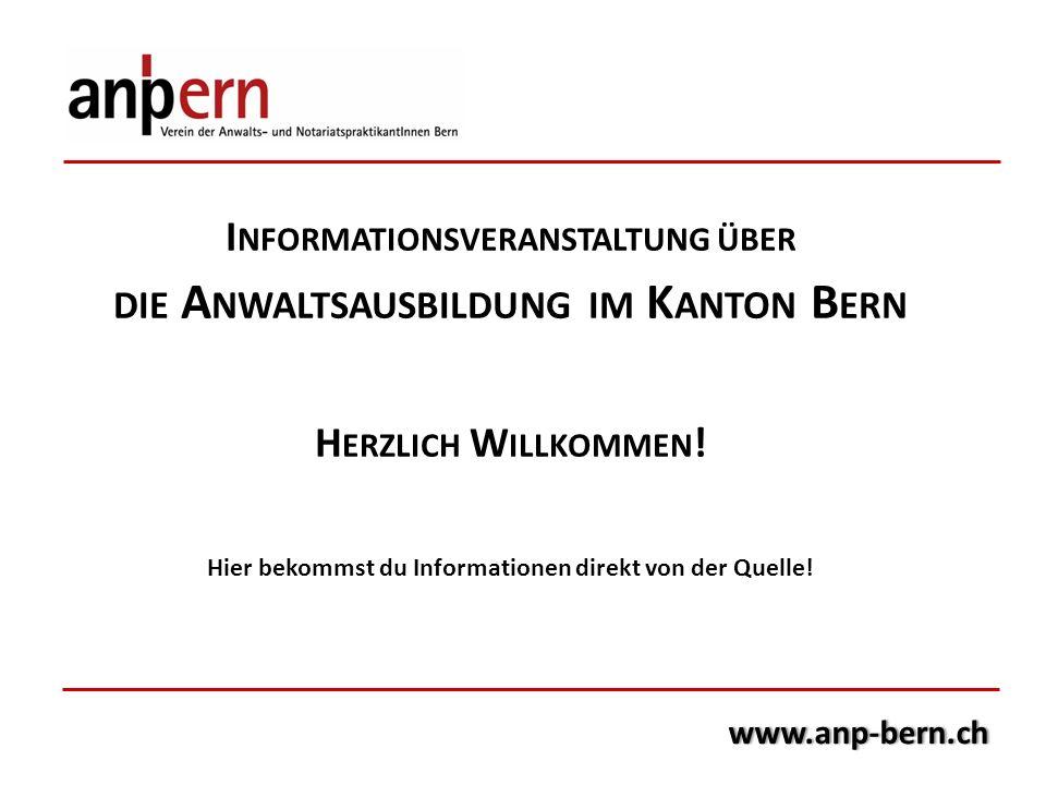 die Anwaltsausbildung im Kanton Bern