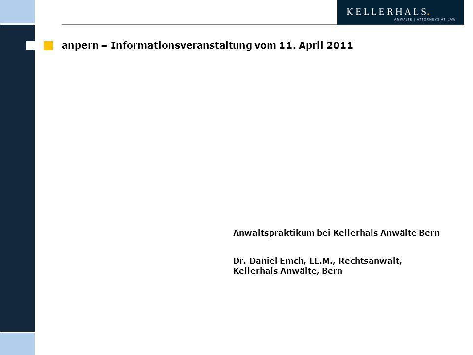 anpern – Informationsveranstaltung vom 11. April 2011