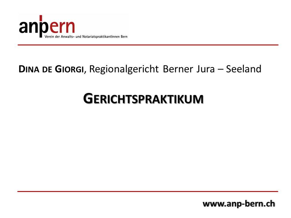 Dina de Giorgi, Regionalgericht Berner Jura – Seeland