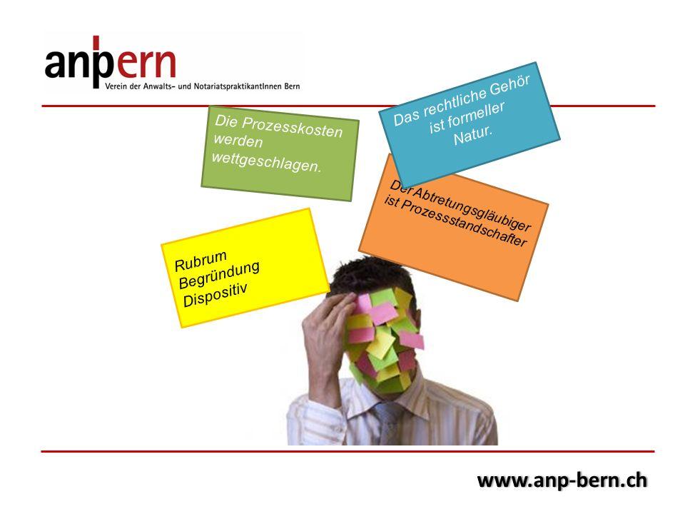 www.anp-bern.ch Das rechtliche Gehör ist formeller