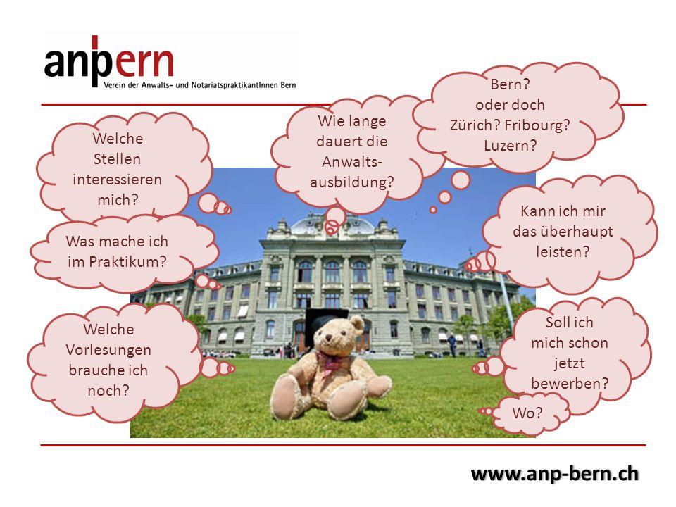 www.anp-bern.ch Bern oder doch Zürich Fribourg Luzern