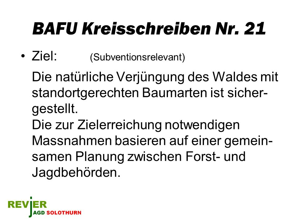 BAFU Kreisschreiben Nr. 21