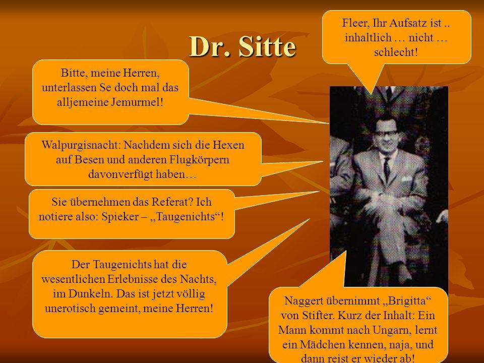 Dr. Sitte Fleer, Ihr Aufsatz ist .. inhaltlich … nicht … schlecht!