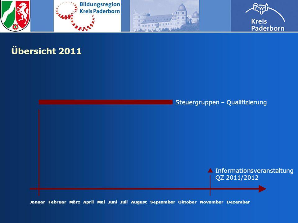 Übersicht 2011 Steuergruppen – Qualifizierung