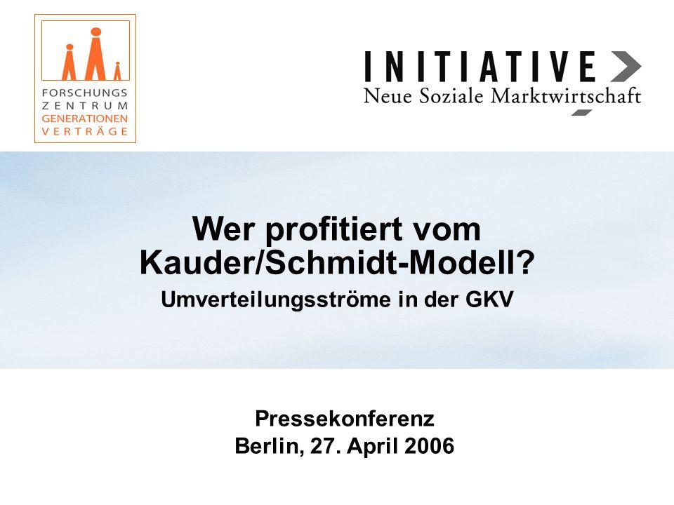 Wer profitiert vom Kauder/Schmidt-Modell