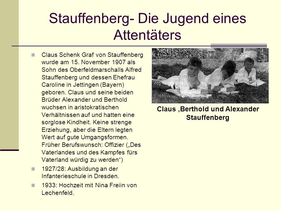 Stauffenberg- Die Jugend eines Attentäters