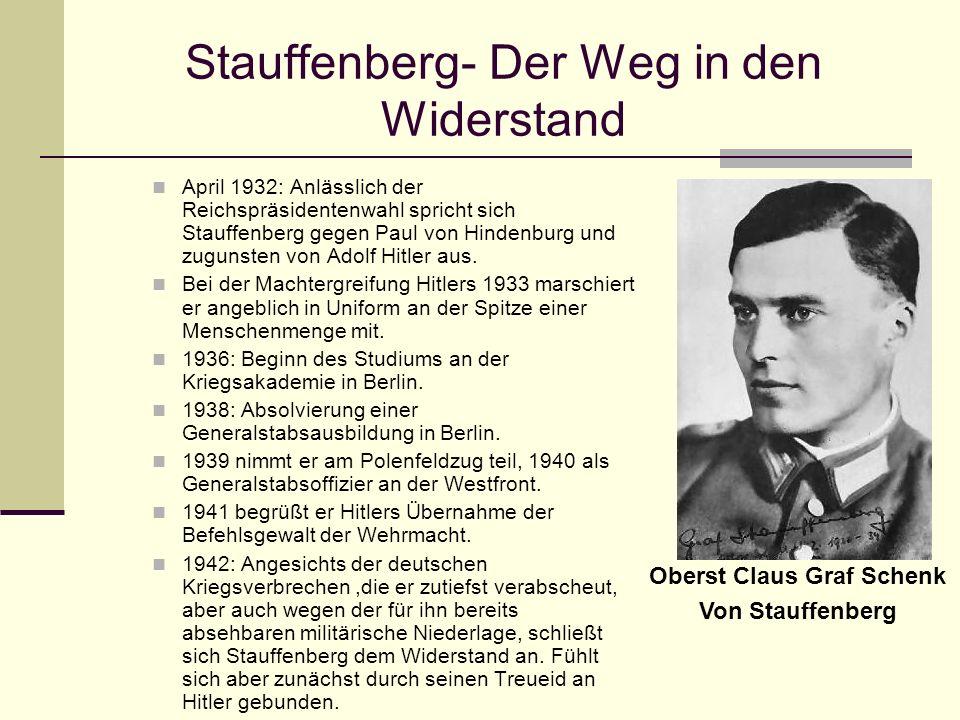 Stauffenberg- Der Weg in den Widerstand
