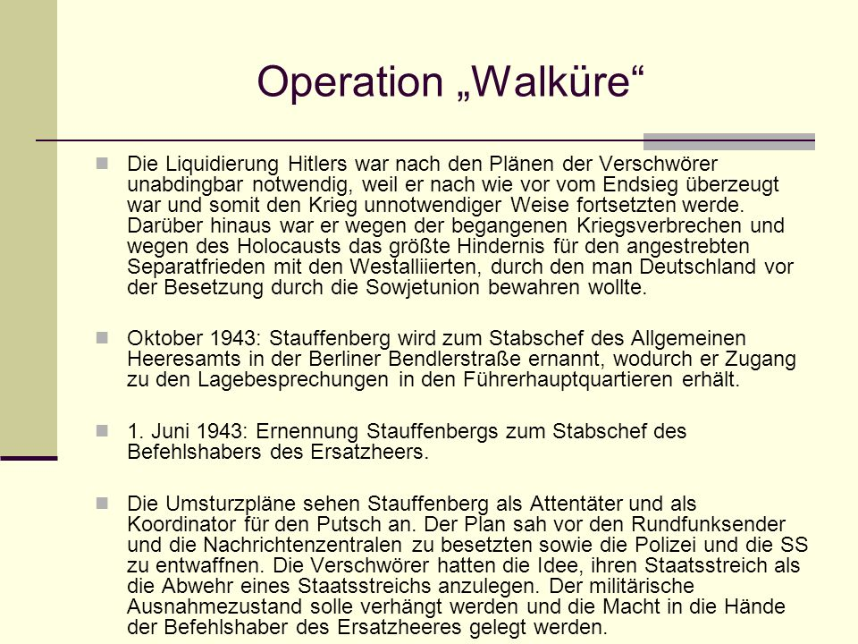 "Operation ""Walküre"
