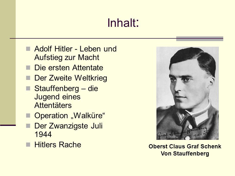 Oberst Claus Graf Schenk Von Stauffenberg