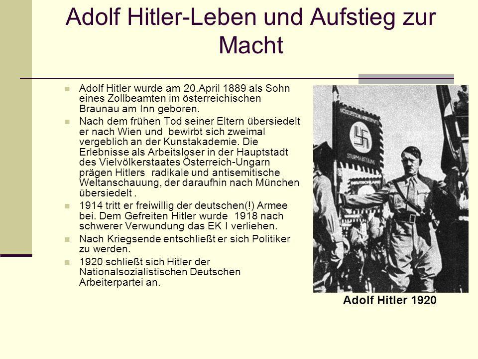 Adolf Hitler-Leben und Aufstieg zur Macht