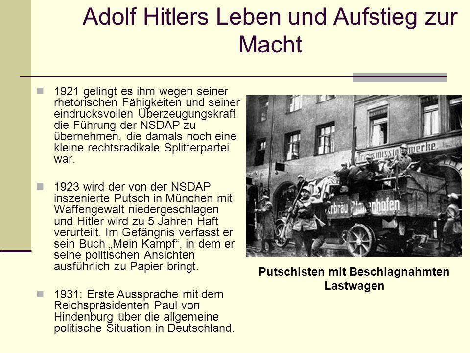 Adolf Hitlers Leben und Aufstieg zur Macht