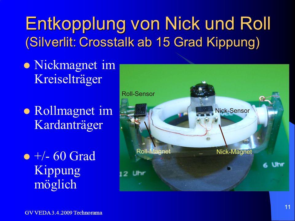 Entkopplung von Nick und Roll (Silverlit: Crosstalk ab 15 Grad Kippung)
