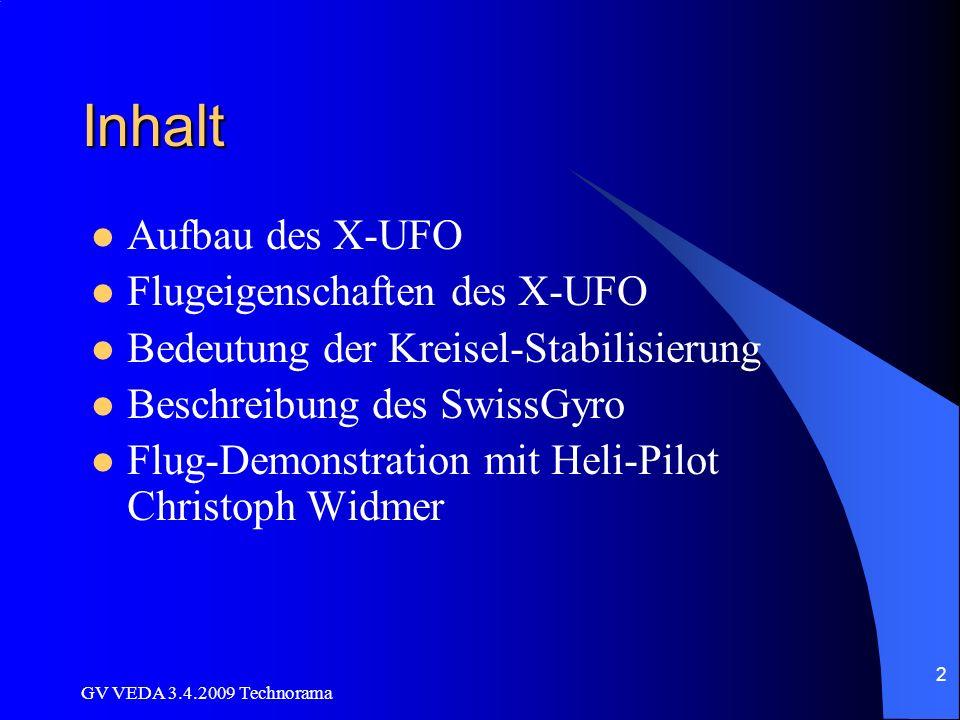 Inhalt Aufbau des X-UFO Flugeigenschaften des X-UFO