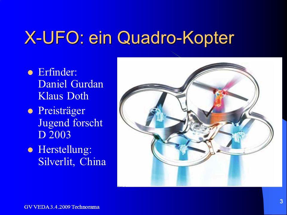 X-UFO: ein Quadro-Kopter