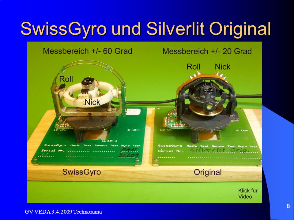 SwissGyro und Silverlit Original