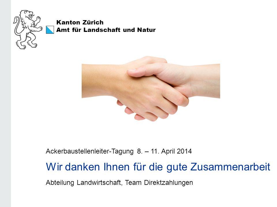 Wir danken Ihnen für die gute Zusammenarbeit