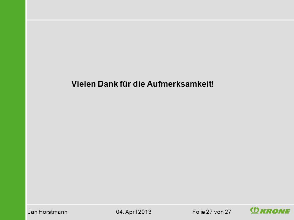 Jan Horstmann 04. April 2013 Folie 27 von 27