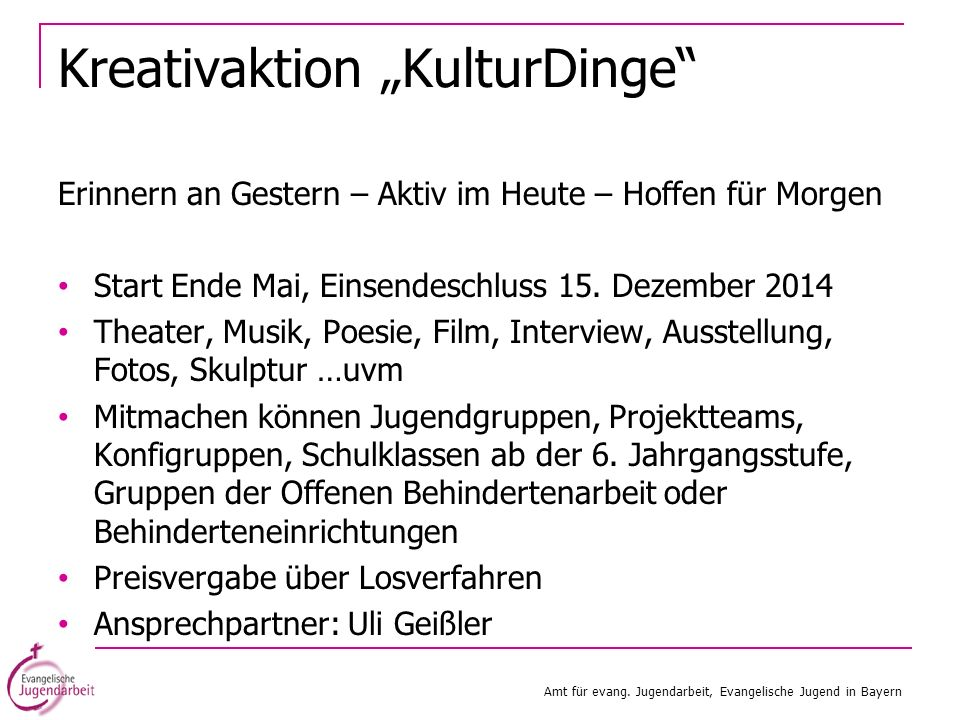 "Kreativaktion ""KulturDinge"