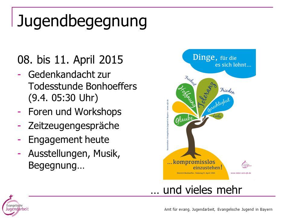 Jugendbegegnung 08. bis 11. April 2015 … und vieles mehr