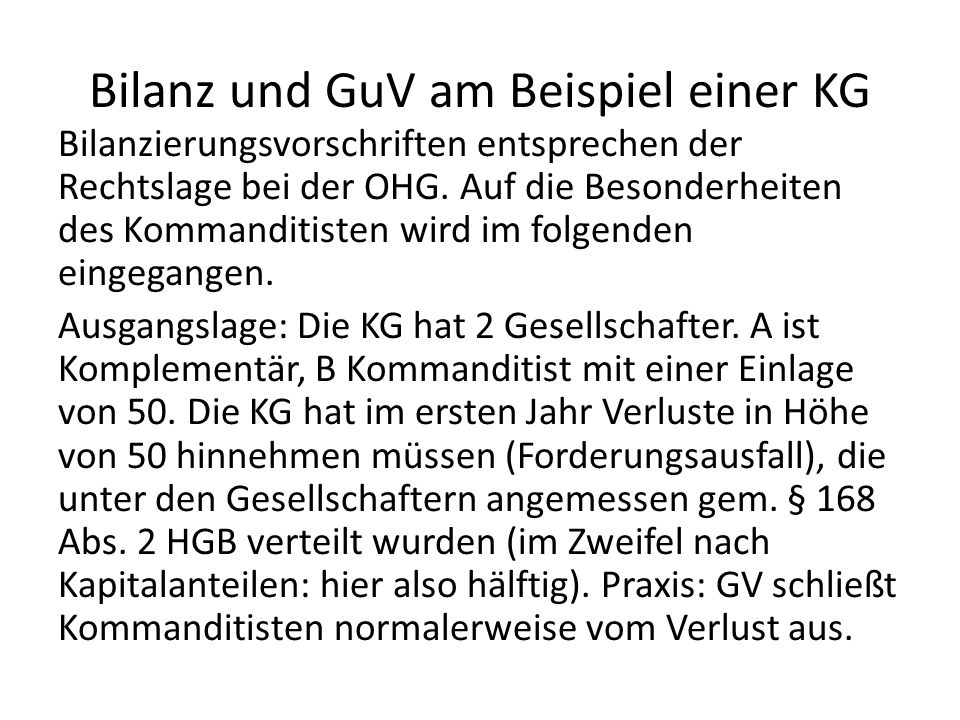 Bilanz kg muster