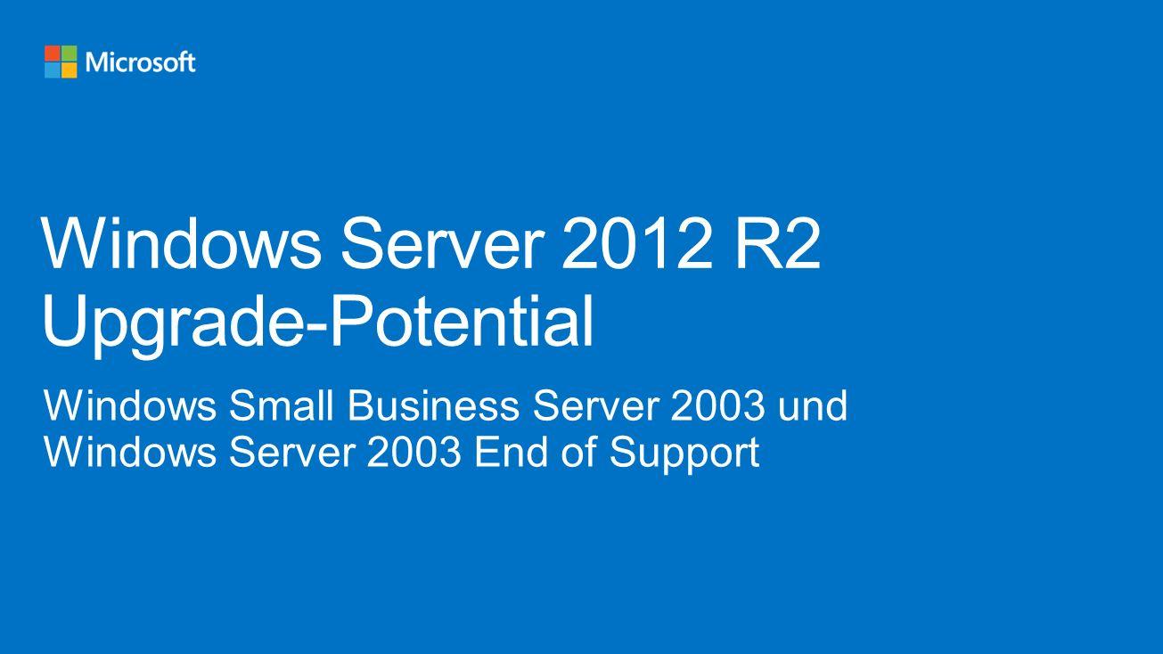 Windows Server 2012 R2 Upgrade-Potential
