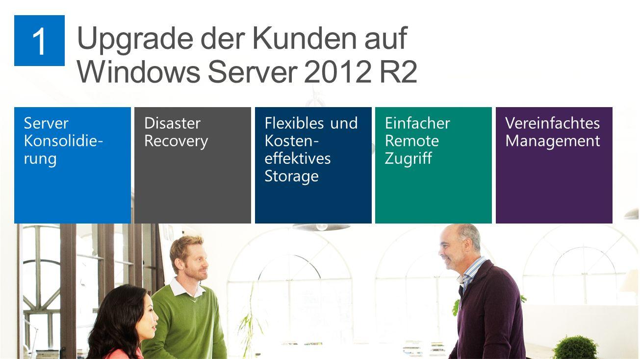 Upgrade der Kunden auf Windows Server 2012 R2