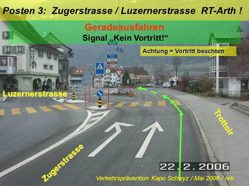 """Geradeausfahren Signal """"Kein Vortritt!"""